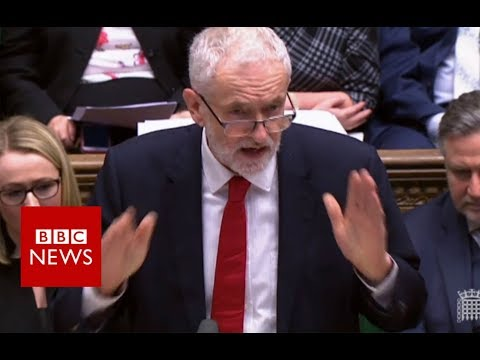 Corbyn: PM 'playing chicken with people's livelihoods' – BBC News